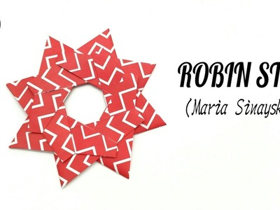 Robin Star by Maria Sinayskaya - Variation 1 - DIY origami Tutorial by Paper Folds - 848