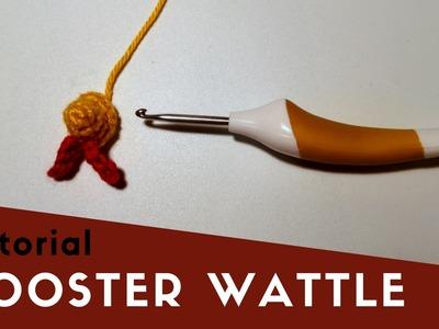 Rooster wattle | crochet amigurumi tutorial