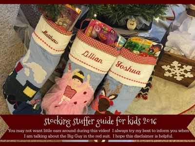 Stocking Stuffer Guide For Kids 2016