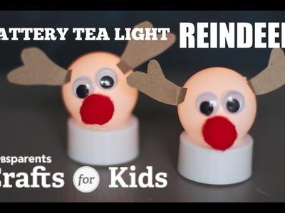 Tea Light Reindeer | PBS Parents| Crafts for Kids
