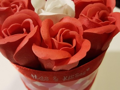 Upcycled Container for Valentine's Day - Dollar Tree Craft