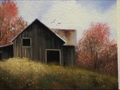 Wilson Bickford Intermediate.Advanced Oil Painting Lesson - Autumn Barn