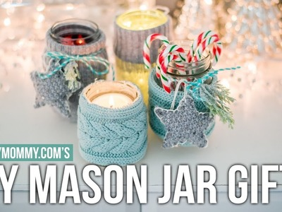 $5 GOODWILL CHALLENGE | Mason Jar Cozies and Upcycled Sweater Ornaments | The DIY Mommy