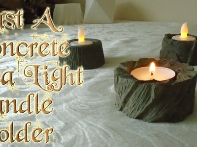 Cast A Concrete Tea Light Candle Holder