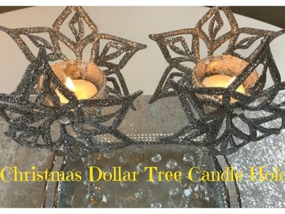 CHRISTMAS DIY - $3 DOLLAR TREE CANDLE HOLDER  * GIVEAWAY CLOSED*