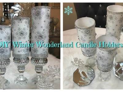 CHRISTMAS DIY - WINTER WONDERLAND CANDLE HOLDERS ❄️☃️???? PLUS GIVEAWAY!! 2017