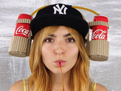 Creative Girl Shows How to Make Coca Cola Drinking Hat