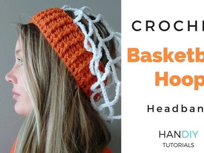 Crochet Basketball Hoop Headband: Basketball Crochet Hat
