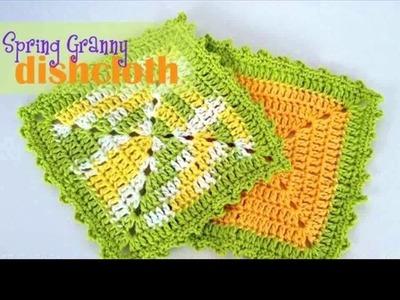 Crochet dishcloth for beginners