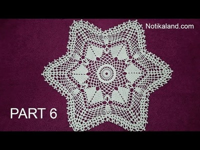 CROCHET How to crochet  lace doily tutorial Part 6, 20 - 22  round