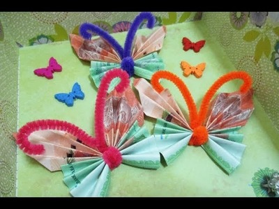 DIY : #200 Gift Box Money Holder (Butterfly) - Floral Theme ❤