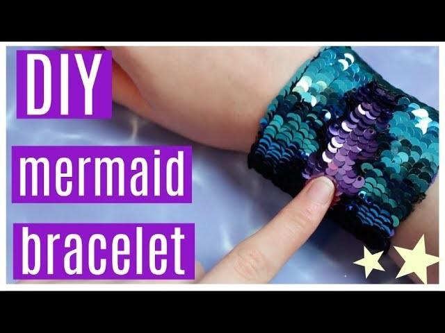 DIY Color Changing Sequin Mermaid Bracelet How To Make A Fidget Toy