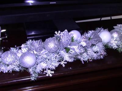 DIY DOLLAR TREE CHRISTMAS GARLAND