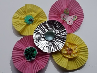 DIY: How To Make Flat Flowers From Cupcake Liners