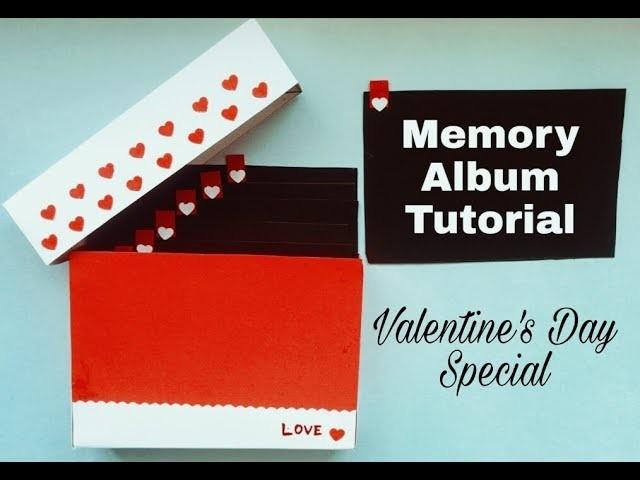 DIY Memory Album Tutorial   Valentines. Anniversary Gift Idea