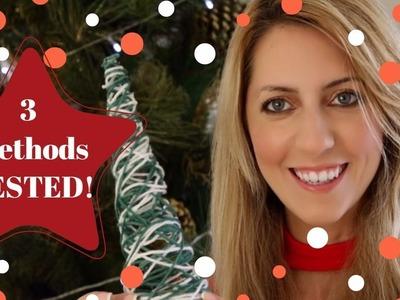 DIY Yarn Christmas Tree - 3 METHODS TESTED!!