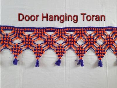 Door Hanging Toran from Woolen Handmade Toran Very Easy. wool toran art