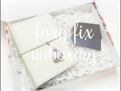 Foxy Fix No. 5 Travelers Notebook Unboxing. Haul