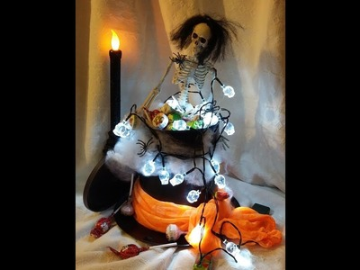 Halloween decoration ideas  - Make a top hat candy container from a TIN CAN