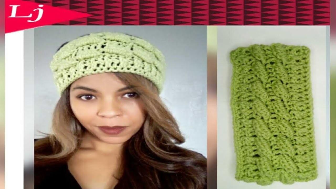 How to crochet a 3D headband - Stretchy crochet ear warmer