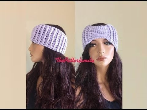 How to Crochet a Headband.Earwarmers Pattern #158│by ThePatternFamily