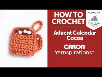 How to Crochet: Advent Calendar Hot Cocoa Ornament