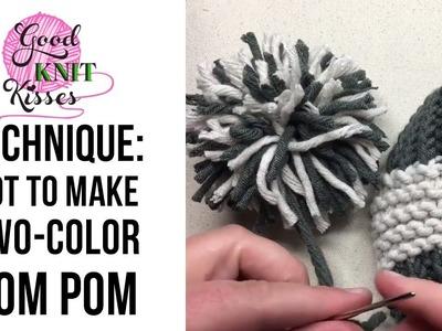 How to Make 2 color Pompom