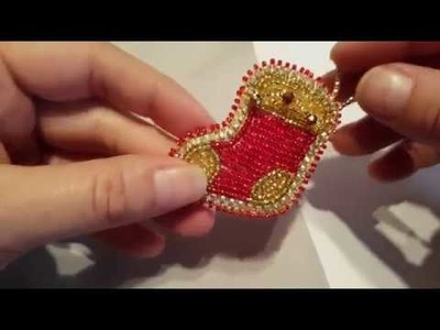 How to Make a Beaded Christmas Stocking Tutorial  FULL