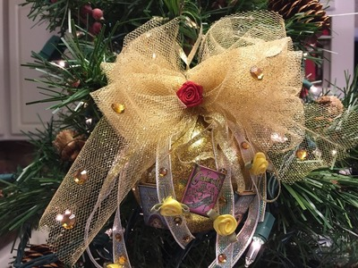 How to make a Belle Christmas Ball Ornament Tutorial