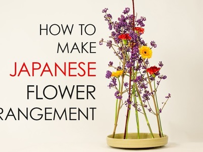 How to make a Japanese flower arrangement without kenzan