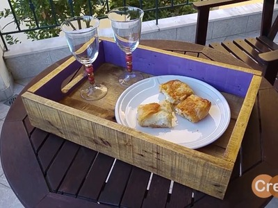 How to make a Rustic serving tray from pallets