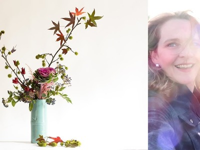 How to make an Ikebana with Astilbe and Brassica