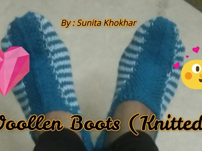 How to make ladies boots (knitting) normal size.