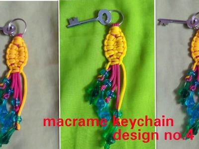 How to make macrame keychain simple design.