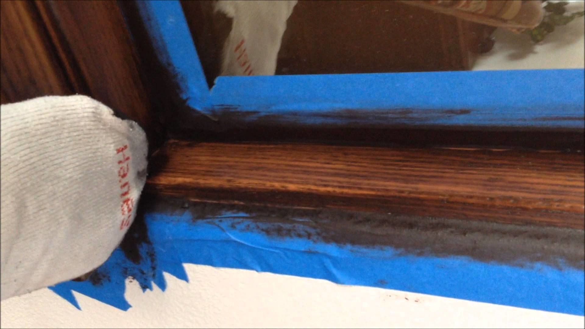 How to stain oak banisters dark