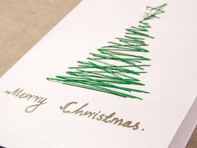 Kids DIY Ideas: Christmas Greeting Cards with Threads