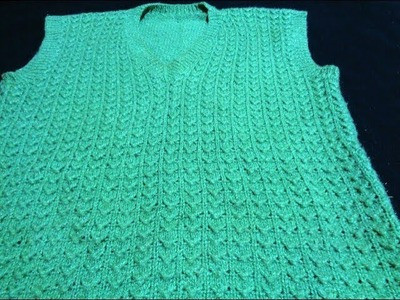 Knitting pattern for Gents sweater in hindi