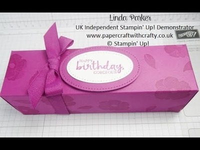 Long Hand-Stamped Fold Flat Box made with A4 card stock from Stampin' Up!