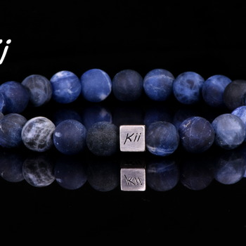 Men's Natural Sodalite Stone Bracelet ∆ Mens Bracelet ∆ Gift for Him ∆ Valentines Gift ∆ Wedding Bracelet  ∆ Best Man Gift ∆ Man Bracelet Gi