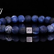 Men's Natural Sodalite Stone Bracelet ∆ Mens Bracelet ∆ Gift for Him ∆ Valentines Gift ∆ Wedding Bracelet  ∆ Best Man Gift ∆ Man Bracelet Gi