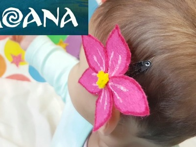 MOANA Flower Hair Clip - Make Your Own - Learn Numbers Colours