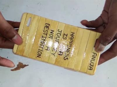 Mobile cover using ice cream sticks
