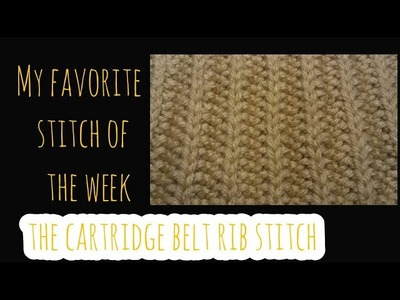 My Favorite Stitch of the Week: The Cartridge Belt Rib Stitch