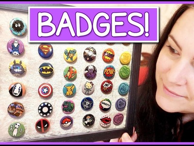 Organising my badges for Comic Con. Convention Prep