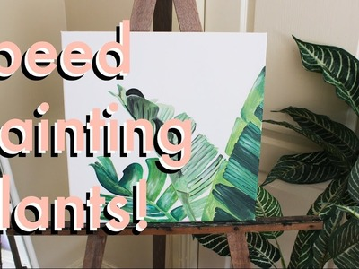 Paint plants with me! (Speed Painting.Timelapse)