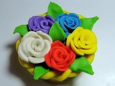 Play Doh: Rose Flower Basket