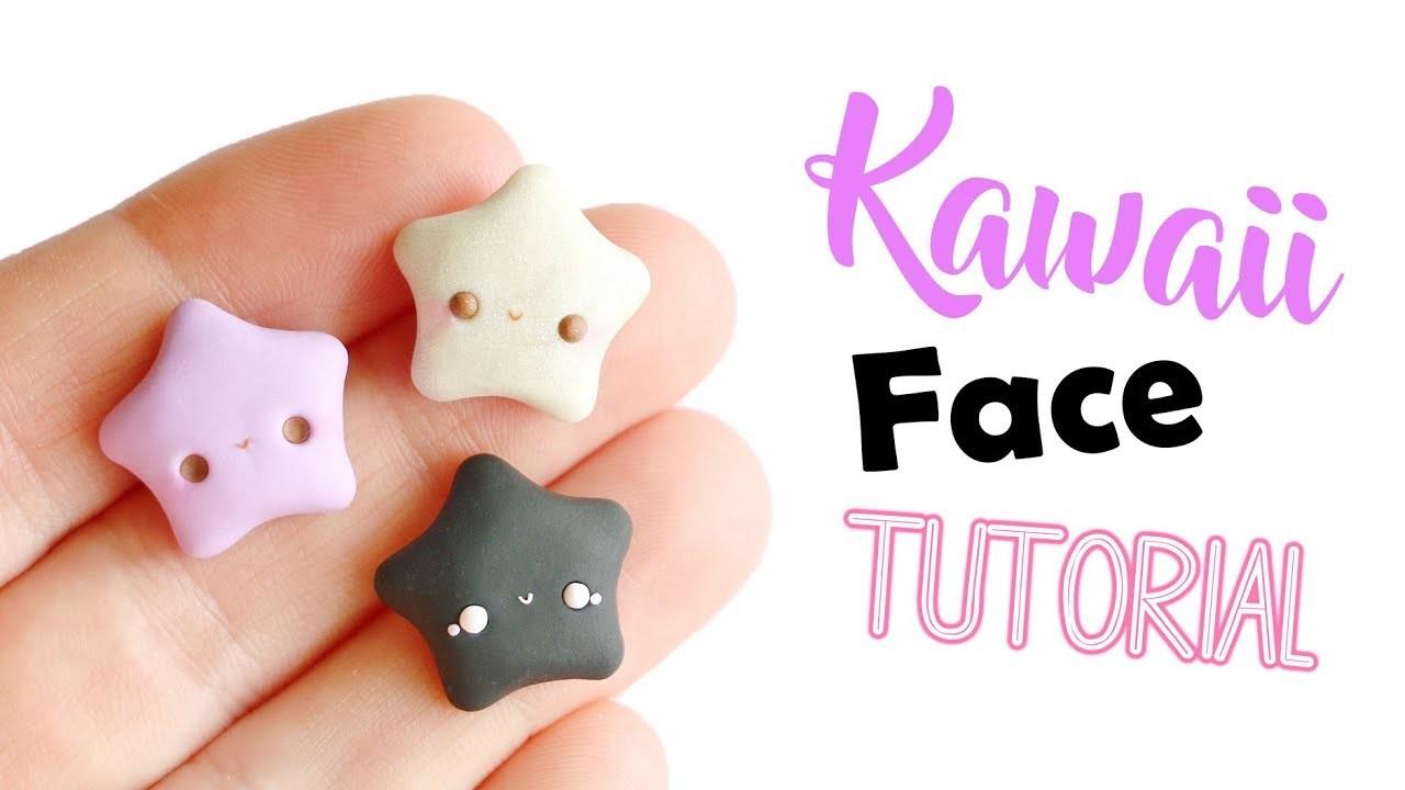 Polymer Clay Kawaii Face Tutorial