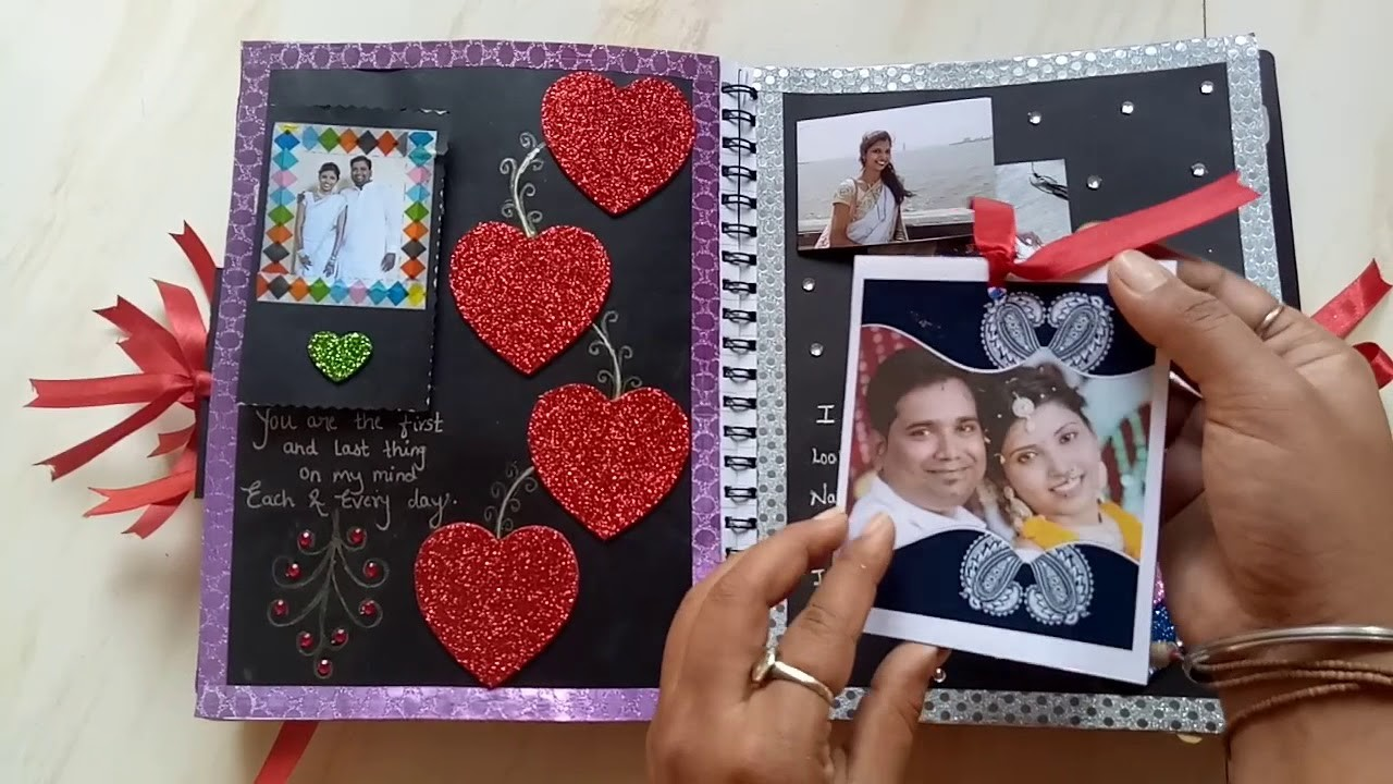 Scrapbook for husband
