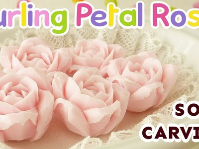 SOAP CARVING | Curling Petal Rose | How to Carve | Tutorial | Real Sound| Satisfying |