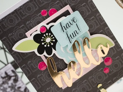 Spellbinders Pink, Teal & Black Fun & Sparkle | June 2017 Card Kit of the Month | Have Fun Card